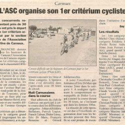 Le 1er Critérium de Carnoux 2004