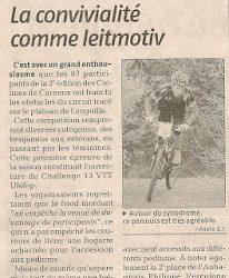 Les Collines de Carnoux VTT XC 2009 Résultats Photos Vidéo Presse