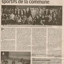La Provence du samedi 27 novembre 2010 - Les Trophées Sportifs