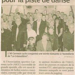 Article La Provence sur le Repas Dansant du Club 2010