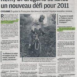 Rémy Di Grégorio n'oublie pas ses origines - Décembre 2010