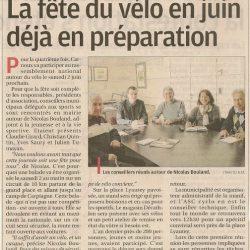 La Provence du 23 mars 2012 : La fête du vélo en juin déjà en préparation