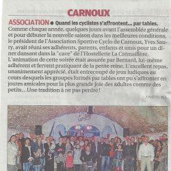 Article La Provence du 18 novembre 2012 - Le Dîner Dansant