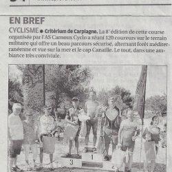 Article La Provence - Le Critérium de Carpiagne 2013
